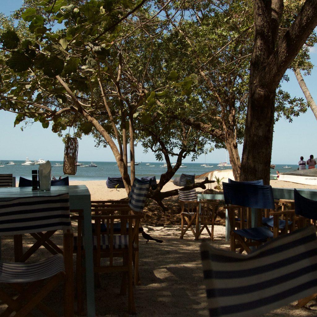 Bar op het strand Costa Rica