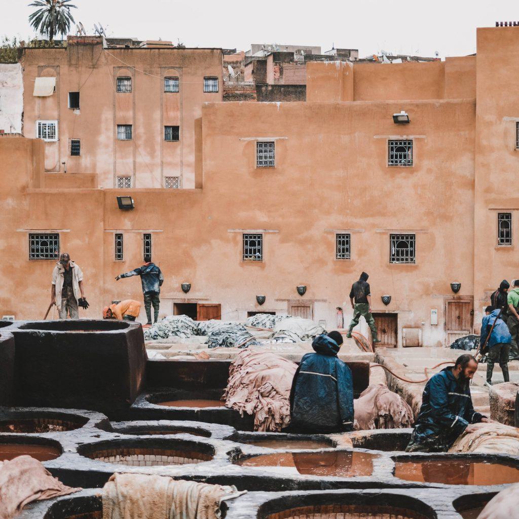 Fez Marokko en de leerlooierij