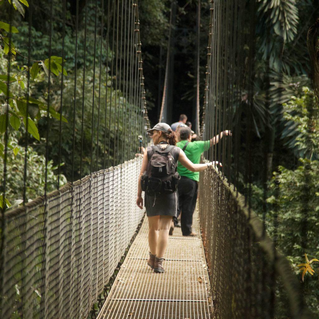 Hangende bruggen cloud forrest Costa Rica