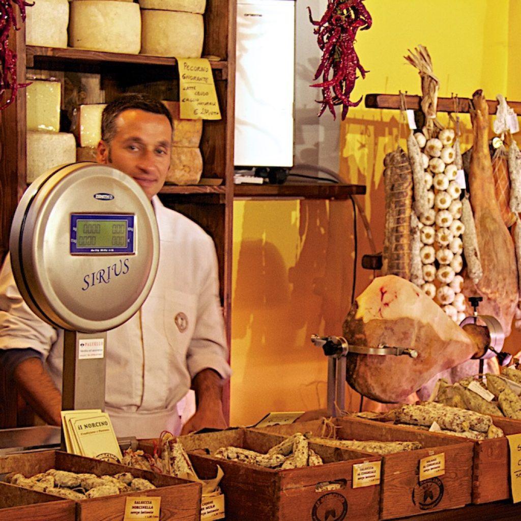 delicatessenwinkel Spoleto Italie